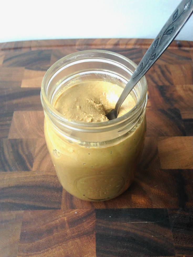 Homemade SunButter Jar