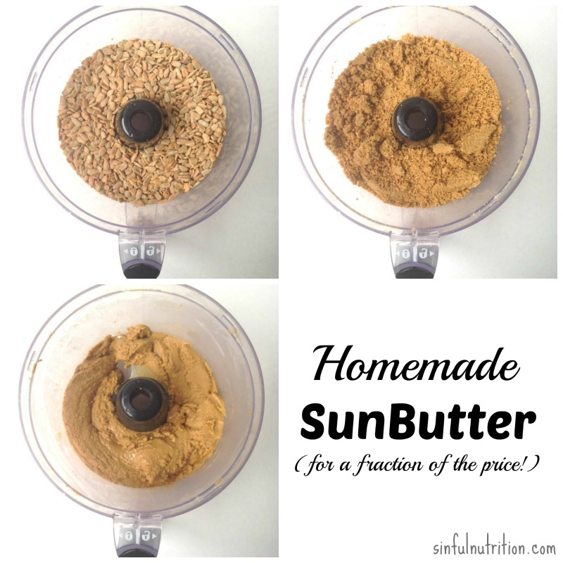 Homemade SunButter Recipe -- Make your own sunflower seed butter in minutes, and at a fraction of the price! #paleo #vegan