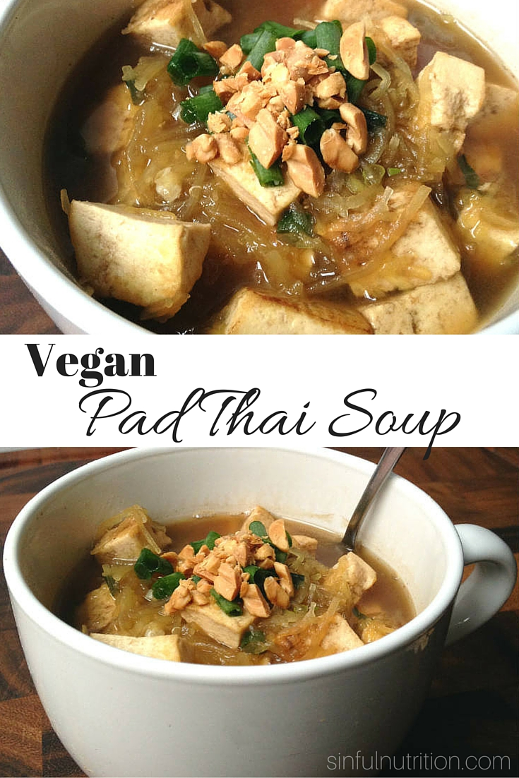 Vegan Pad Thai Soup -- Turning one of my favorite dishes into a healthy, veggie-packed soup! #lowcarb #glutenfree #ad