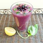 Wild Blueberry Lemon & Basil Smoothie - A healthy and refreshing breakfast that's loaded with antioxidants. Tastes like a sip of summer in a glass! #ad