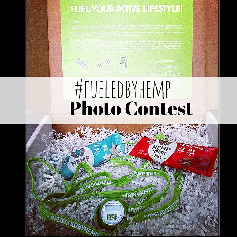 Enter to win your own box of new Hemp Heart Bars with the #fueledbyhemp photo contest!