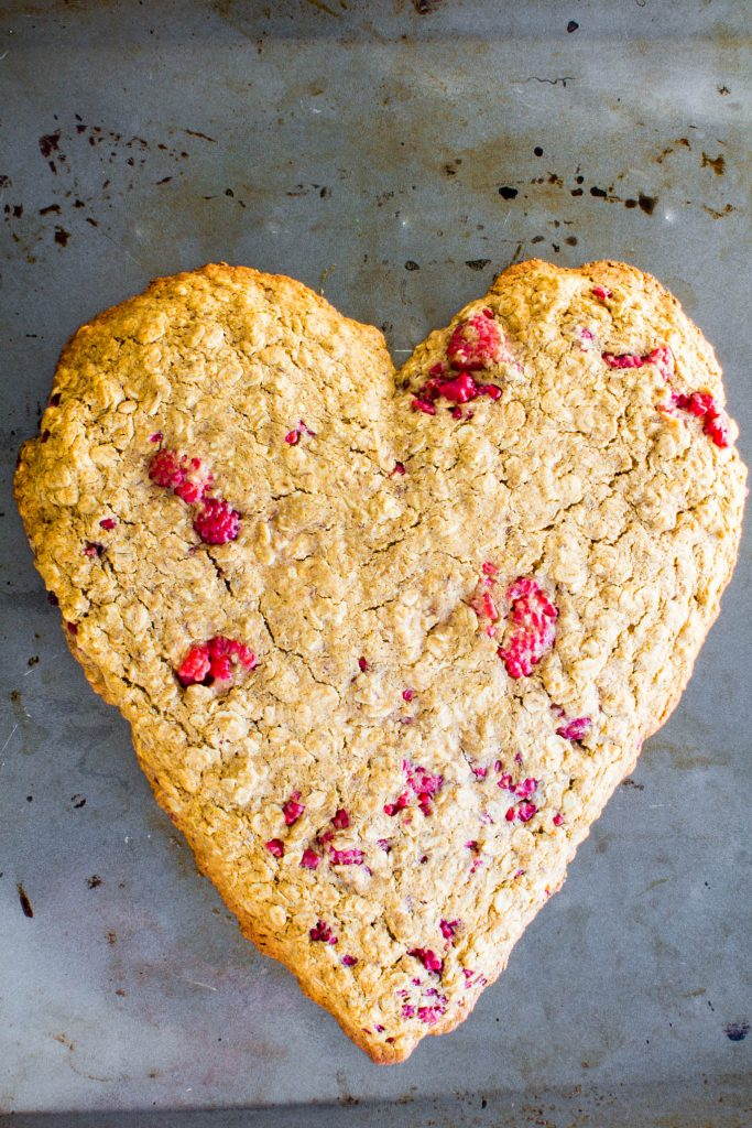 Heart-shaped Oatmeal Breakfast Cookie - immaEATthat