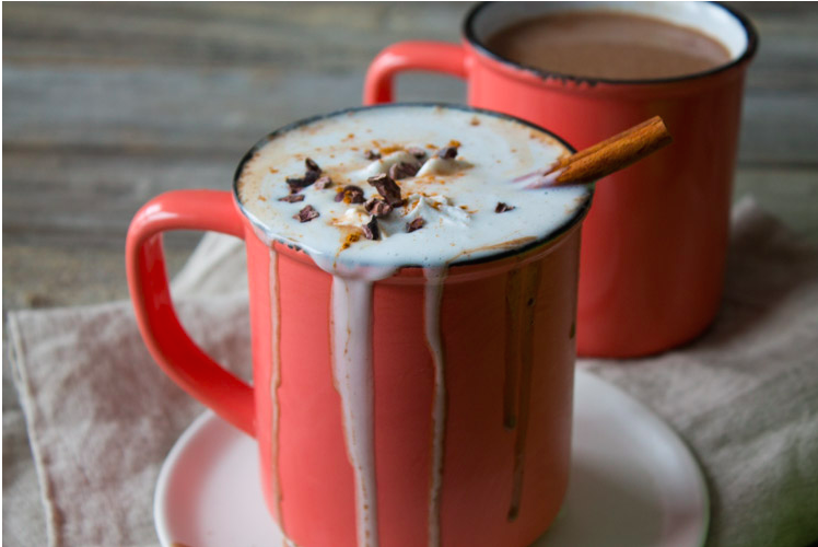 Vegan Boozy Mexican Spiced Hot Chocolate - The Foodie Dietitian & 13 other single-serve recipes to #treatyoself with!