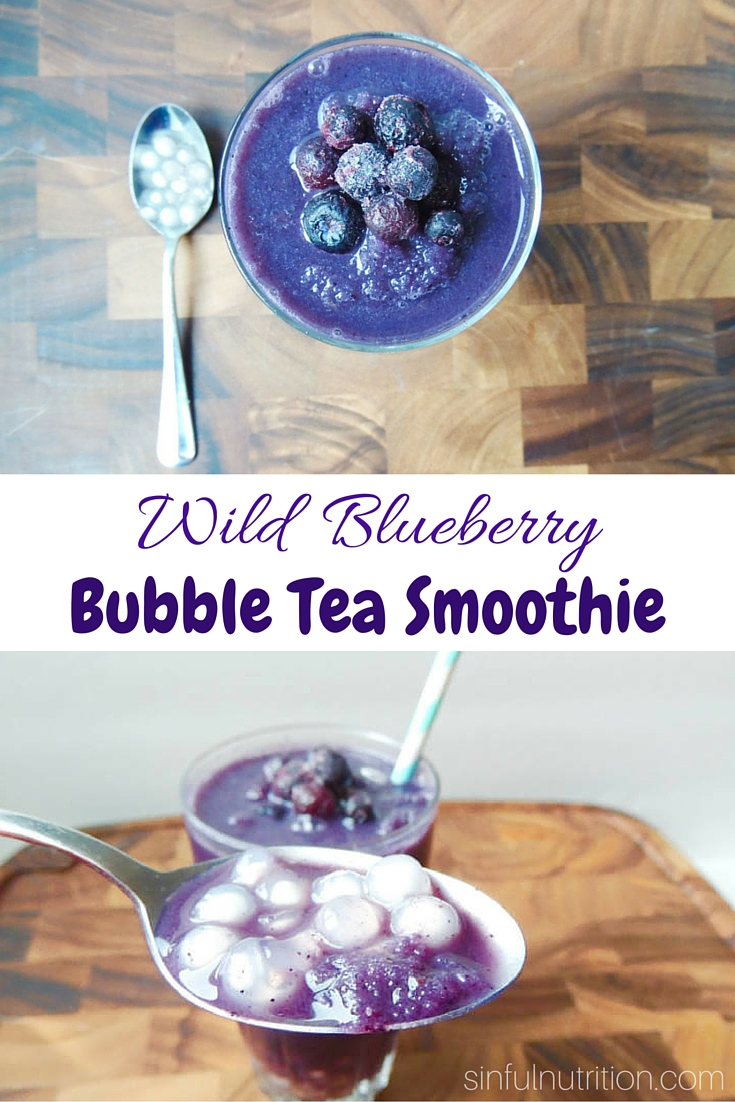 Wild Blueberry Bubble Tea Smoothie Sinful Nutrition