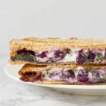 Blueberry Basil Panini Sandwich On Plate