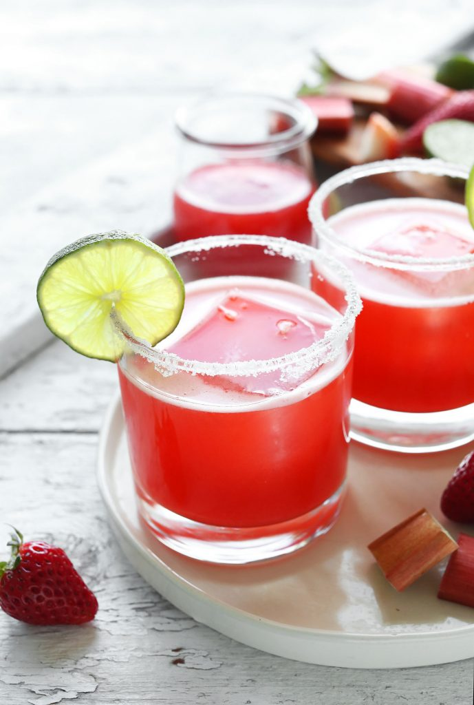 6-ingredient-Strawberry-Rhubarb-Margaritas-Sweet-tart-and-perfect-for-spring-vegan-glutenfree-rhubarb-margarita-recipe-minimalistbaker
