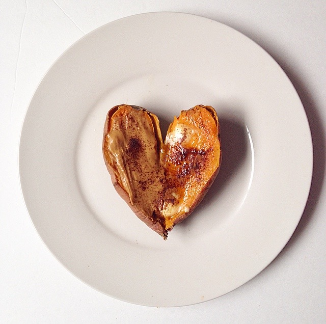 Sweet Potato Heart