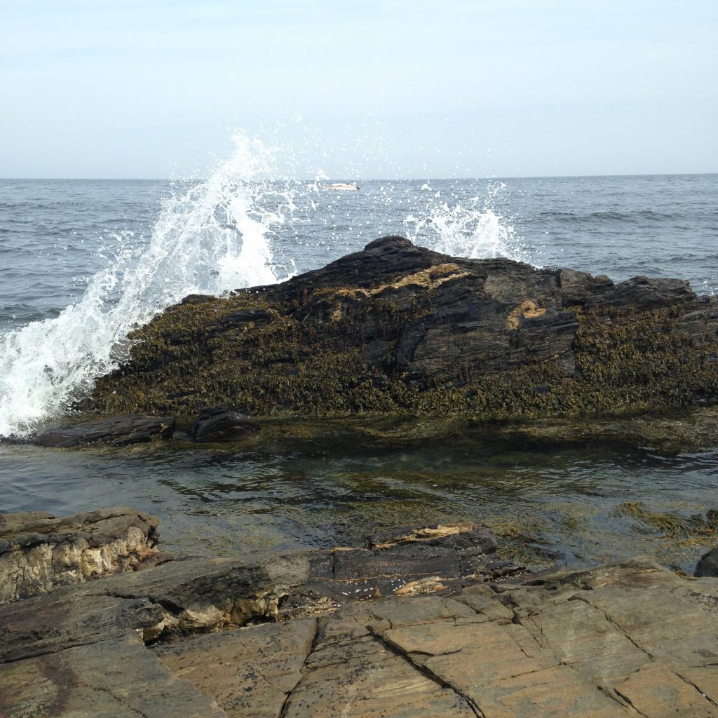 Wave Crashing Rock