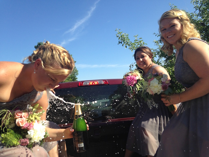 Champagne Spit Wedding