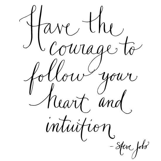 Steve Jobs Intuition Quote