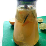 Kombucha White Sangria Recipe -- A healthy cocktail made with probiotic tea, white wine, and fresh citrus! A perfect drink for all your summer celebrations! | @sinfulnutrition #ad