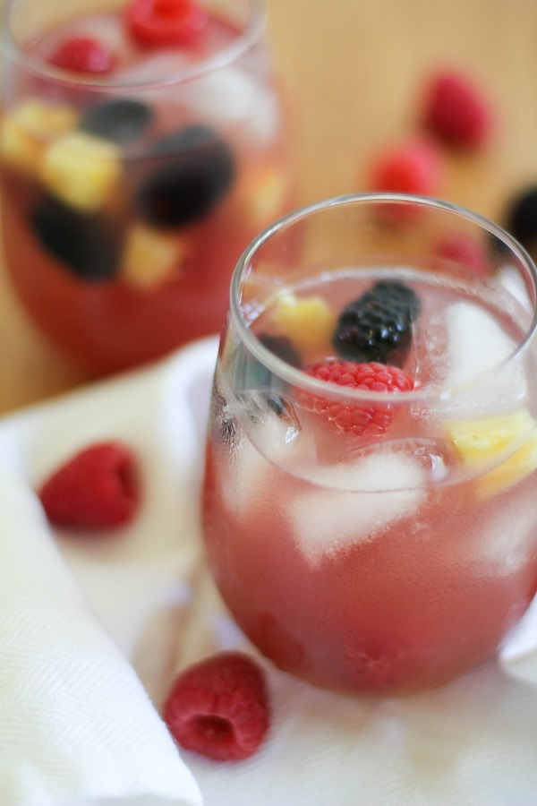 Pineapple Rose Sangria - The Roasted Root