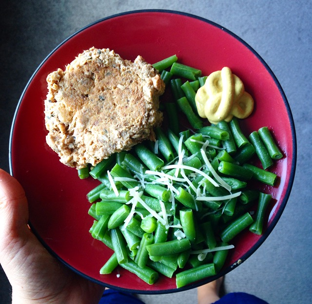 Salmon Green Beans and Cheese