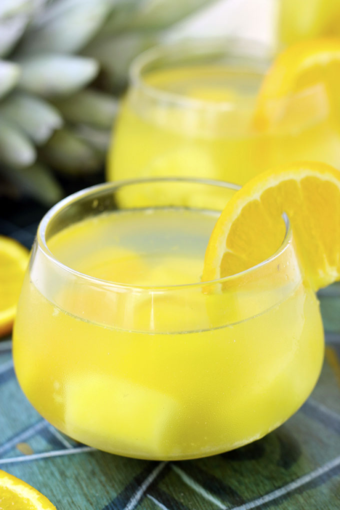 Tropical Coconut Sangria - The Healthy Maven