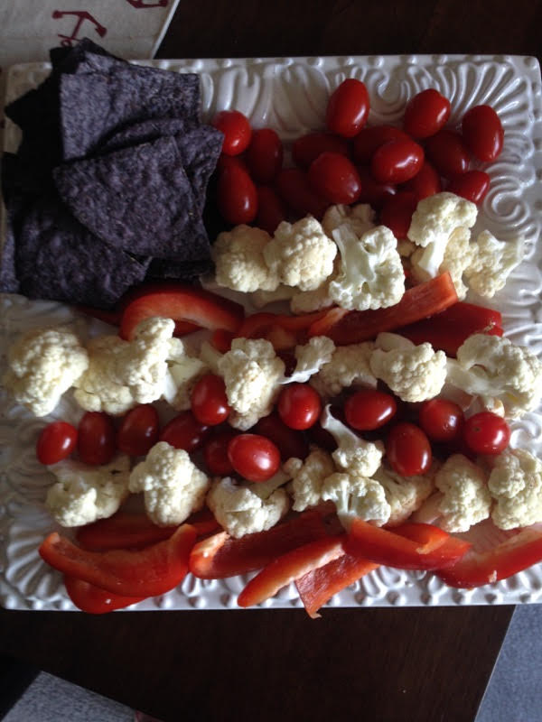 Fourth of July Veggie Flag