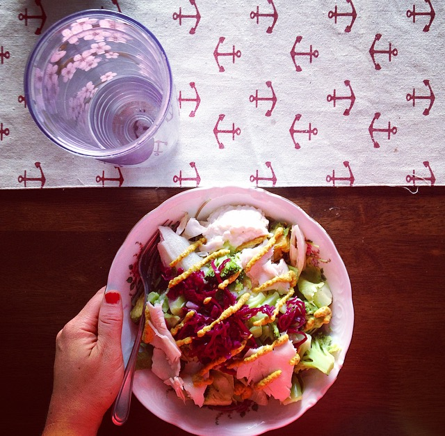 Cottage Cheese and Turkey Salad