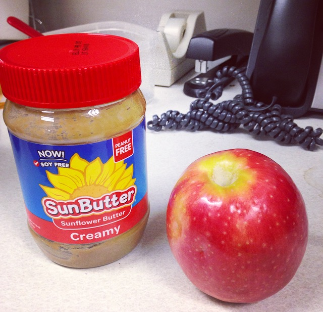 Sunbutter and Apple
