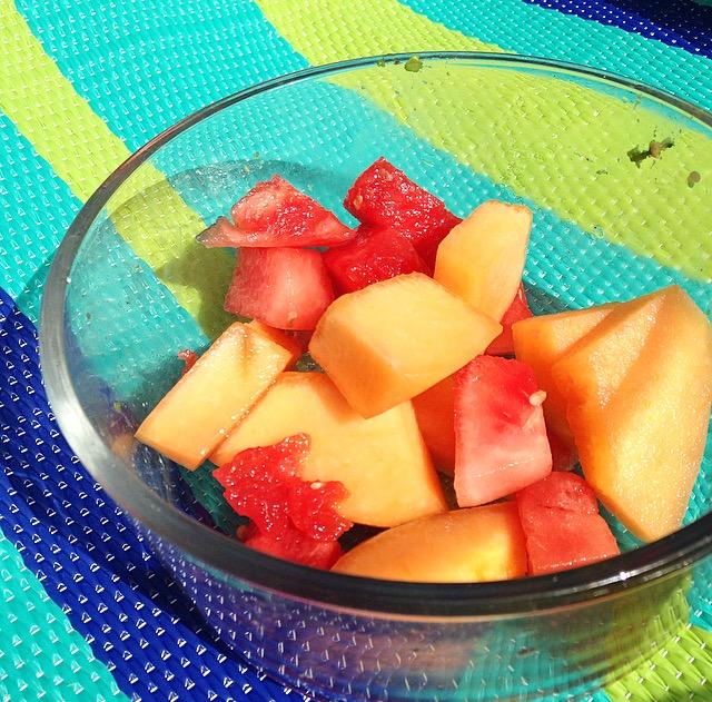 Cantaloupe and Watermelon