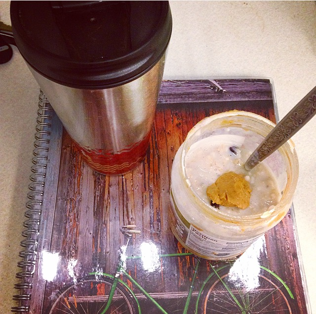 Planner with Oats and Coffee