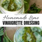 Lime Vinaigrette Dressing Recipe Collage with Text Overlay