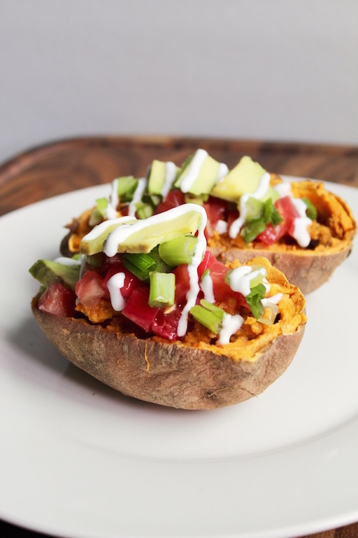 Baked Sweet Potato Tacos {Vegan, GF}