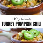 Turkey Pumpkin Chili Collage with Text Overlay