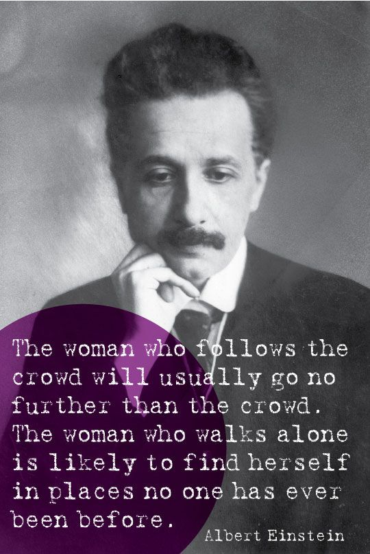 Woman Quote Einstein
