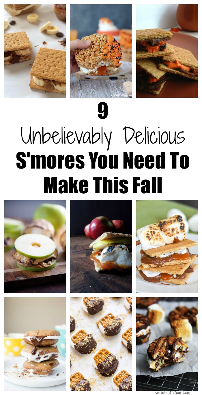 9 Unbelievably Delicious S'mores Recipes You Need to Make this Fall