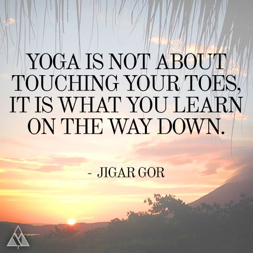 Touching Toes Yoga Quote
