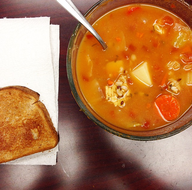 Toast and soup