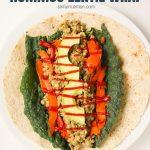 Honey Mustard Hummus Lentil Wrap with Text