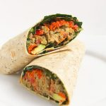 Honey Mustard Hummus Lentil Wrap with Text Overlay