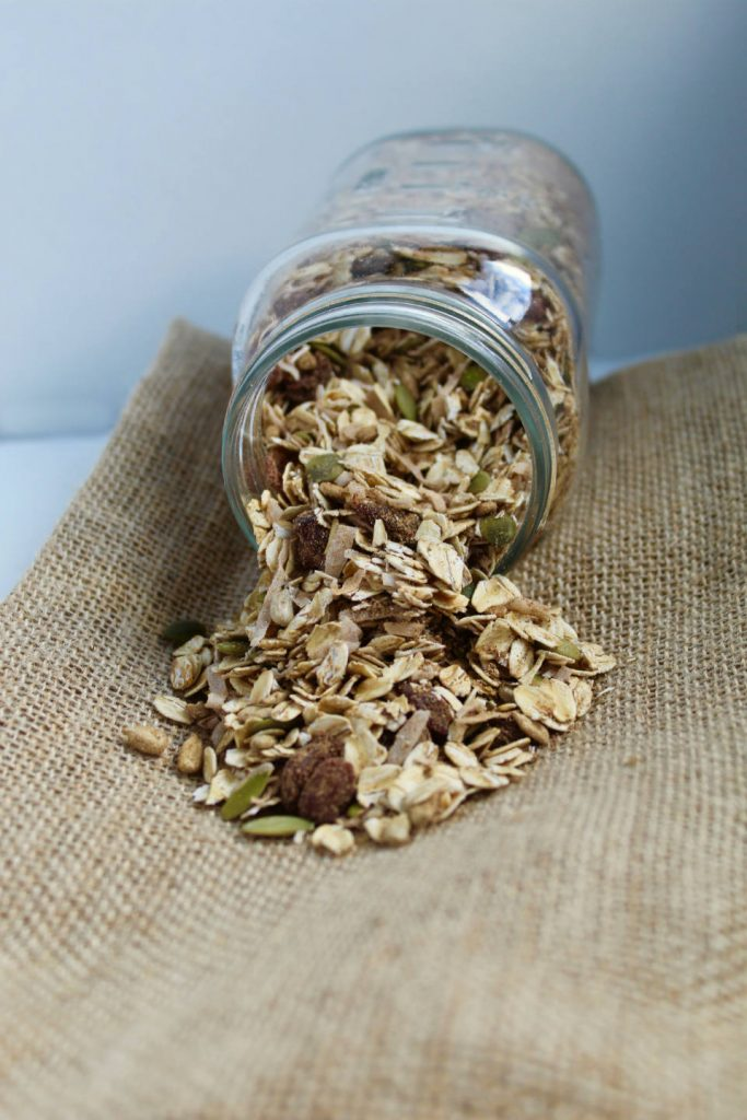 Jar of Pumpkin Spice Homemade Muesli