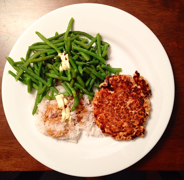 Dinner Salmon Rice
