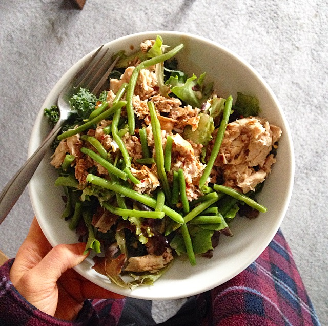 Green Beans on Salad
