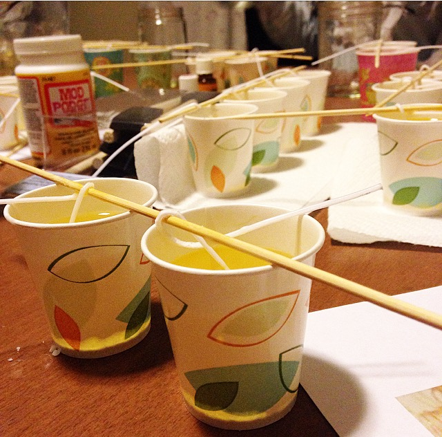 Dixie Cup Candles
