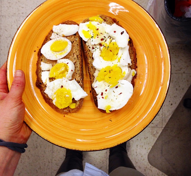 Toast with Eggs on top