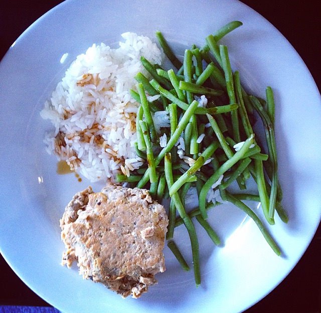 Salmon Green Beans Rice