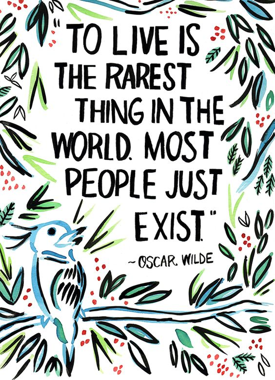 Live Quote Oscar Wilde