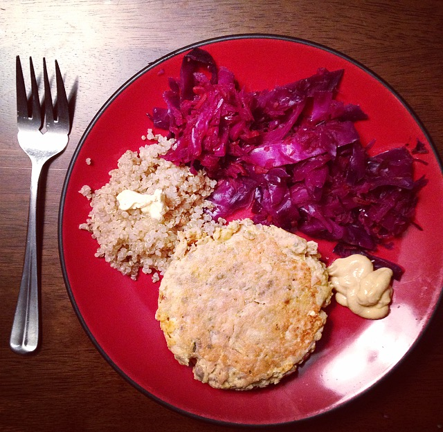 Braised Cabbage and Salmon