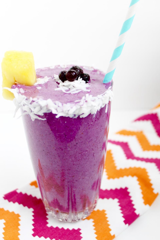 Wild Blueberry Pina Colada Smoothie