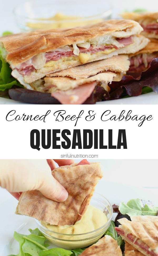 Corned Beef Sandwich with Text Overlay