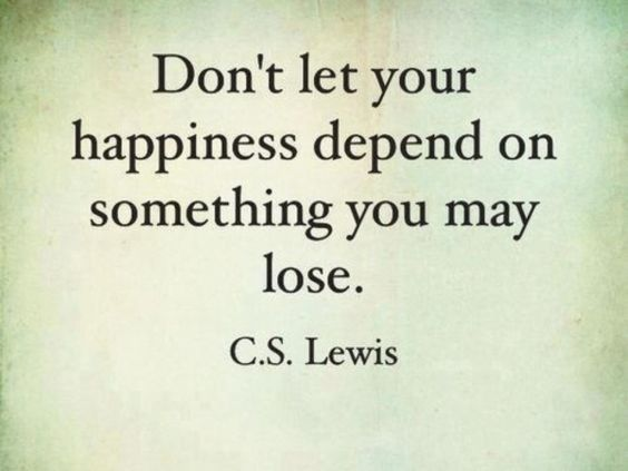 Happiness C.S Lewis Quote