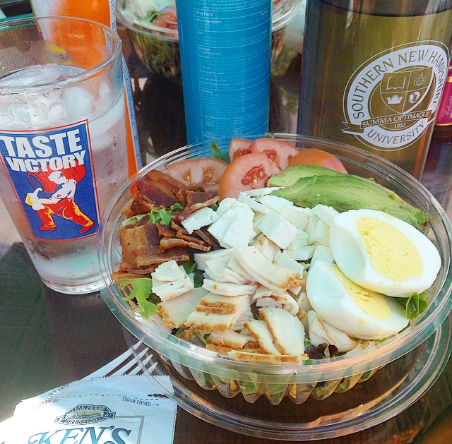 Seltzer and Cobb Salad