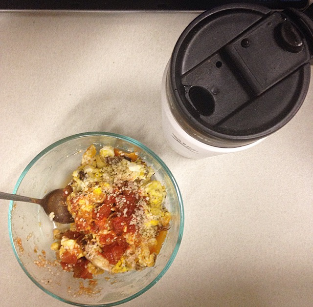 coffee and egg scramble