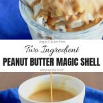 Peanut Butter Magic Shell Collage with Text Overlay