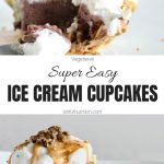Ice Cream Cupcakes with Text