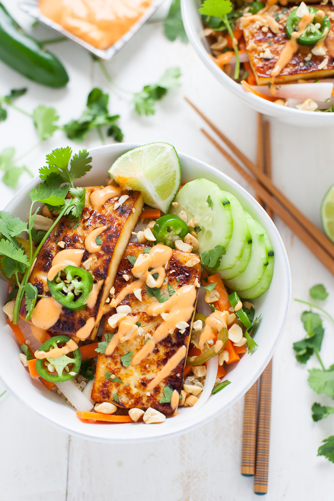 Tofu Banh Mi Bowl - The Foodie Dietitian