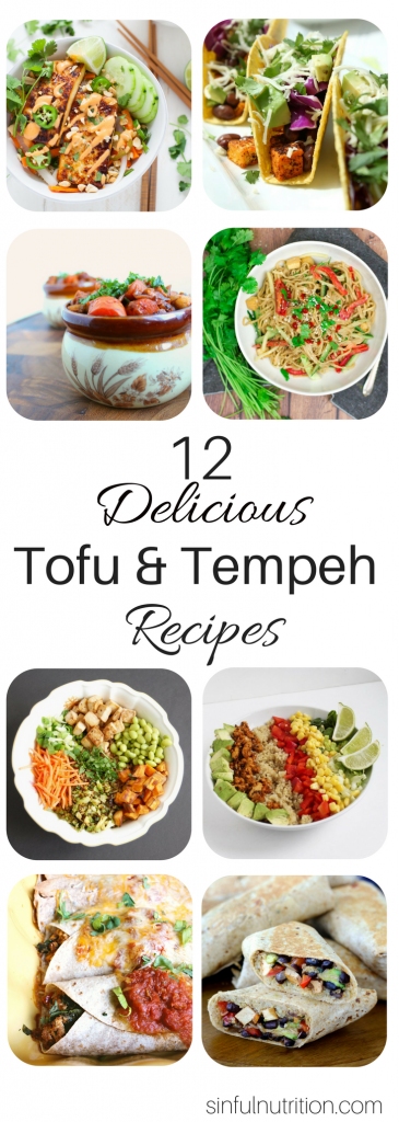 12 Delicious Tofu & Tempeh Recipes Even Meat-Eaters will Love -- If you're new to plant-based proteins, these healthy and delicious recipes are the perfect introduction. You won't even miss the meat! | @sinfulnutrition