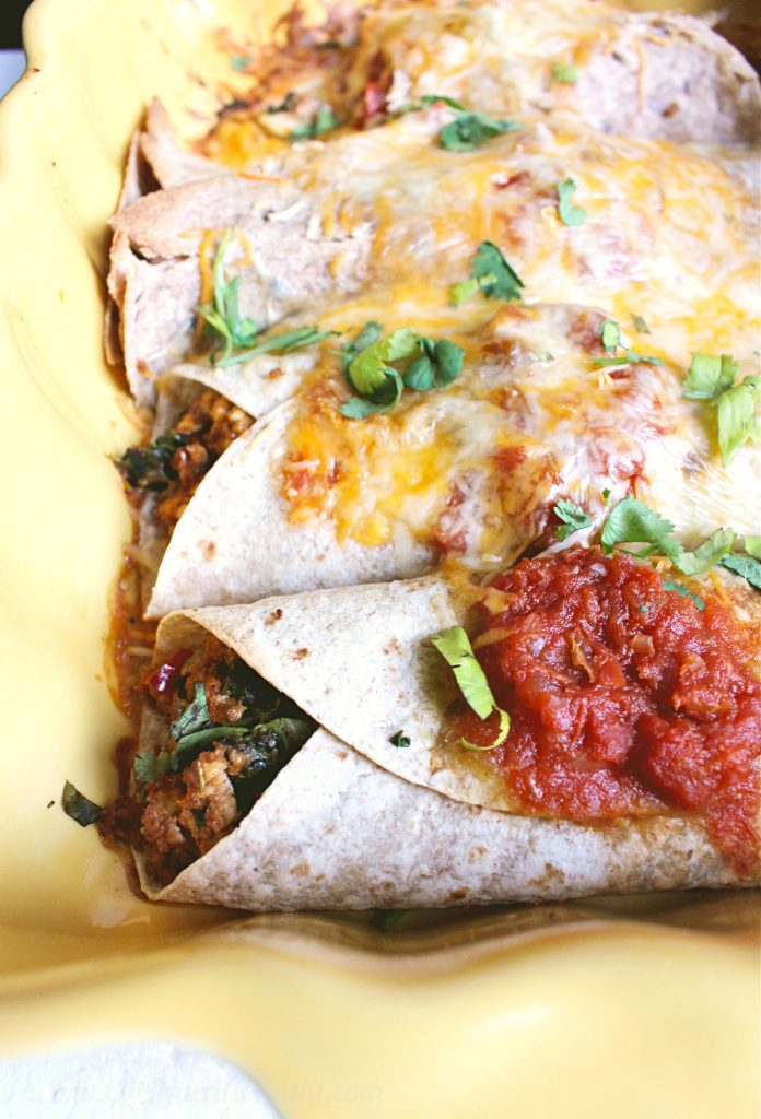 Tofu and Spinach Enchiladas | C it Nutritionally